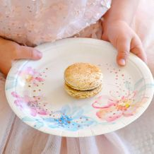 Floral Dessert Plates - Party Supplies Emporium