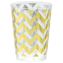 Premium Chevron Gold  295ml Tumbler - Party Supplies Emporium