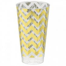 Premium Chevron Gold  473ml Tumbler - Party Supplies Emporium
