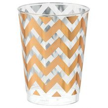 Premium Chevron Rose Gold  295ml Tumbler - Party Supplies Emporium