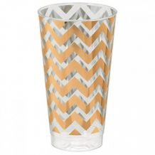 Premium Chevron Rose Gold  473ml Tumbler - Party Supplies Emporium