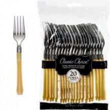Premium Disposable Gold & Silver Look Forks – Party Supplies Emporium