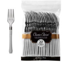 Premium Disposable Silver Look Forks – Party Supplies Emporium