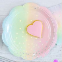 Iridescent Pastel Dessert Plate - Party Supplies Emporium