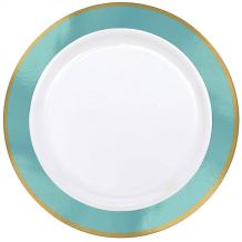 Premium 26cm White Plate With Robin's Egg Border – Party Supplies Emporium