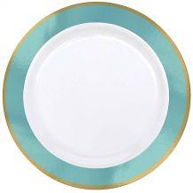 Premium 26cm White Plate With Robin's Egg Border – Party Supplies Emporium