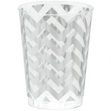 Premium Chevron Silver 295ml Tumbler - Party Supplies Emporium
