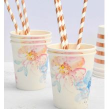 Floral Paper Cups - Party Supplies Emporium