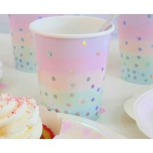 Iridescent Pastel Cup - Party Supplies Emporium