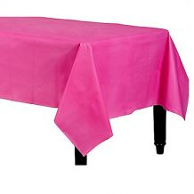 Bright Pink Rectangle Plastic Table Cover - Party Supplies Emporium