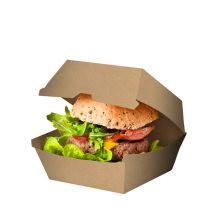 Brown Board Hamburger Clam - Party Supplies Emporium