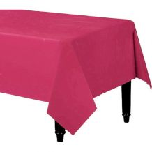 Magenta Rectangle Plastic Table Cover - Party Supplies Emporium