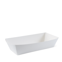 ​White Eco Hot Dog Food Trays - Party Supplies Emporium