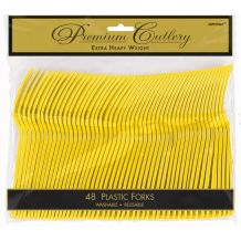 Yellow Heavy Duty Forks Bulk - Party Supplies Emporium