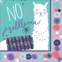 Llama Fun Lunch Napkin - Party Supplies Emporium