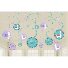 Llama Fun Swirl Decoration - Party Supplies Emporium
