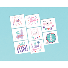 Llama Fun Tattoos - Party Supplies Emporium