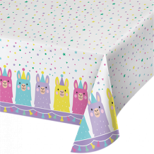 Llama Party Tablecover All Over Print - Party Supplies Emporium
