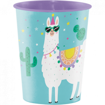 Llama Party Construction Keepsake Souvenir Favor Cup Plastic - Party Supplies Emporium