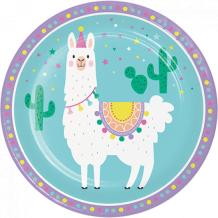 Llama Party Dinner Plates Paper 22cm - Party Supplies Emporium