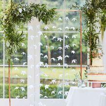 Botanical Wedding Backdrop White Origami Flowers - Party Supplies Emporium