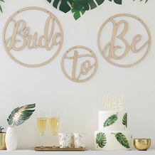 Botanical Hen Party Wooden Bride To Be Hoops - Party Supplies Emporium