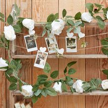 Rustic Country Wedding Garland Flowers White - Party Supplies Emporium