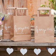 Rustic Country Wedding Hangover Cure Bags - Party Supplies Emporium