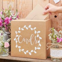 Rustic Country Wedding Card Holder Box - Party Supplies Emporium