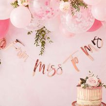 Floral Hen Party Bunting From Miss To Mrs - Party Supplies Emporium