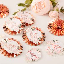 Floral Hen Party Pin Badges With Stickers - Party Supplies Emporium