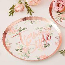 Floral Hen Party Paper Plates - Party Supplies Emporium