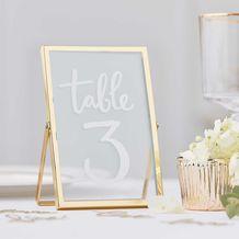 Gold Wedding Gold Standing Frames - Party Supplies Emporium