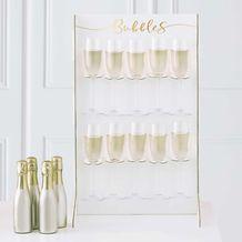 Gold Wedding Prosecco Wall - Party Supplies Emporium