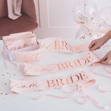 Hen Party Team Bride Sashes - Party Supplies Emporium