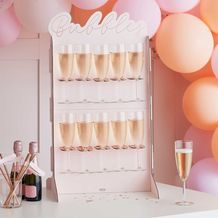 Hen Party Rose Gold Foiled & Blush Cut Out Prosecco Wall - Party Supplies Emporium