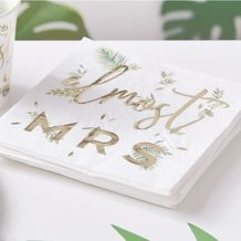 Botanical Hen Party Gold Foiled 'Bridal Shower' Napkins - Party Supplies Emporium