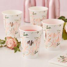 Floral Hen Party Paper Cups - Party Supplies Emporium