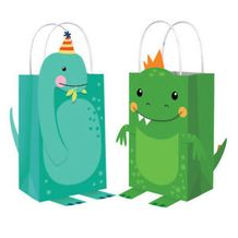 Dino-Mite Party Dinosaur Create Your Own Paper Kraft Bags - Party Supplies Emporium