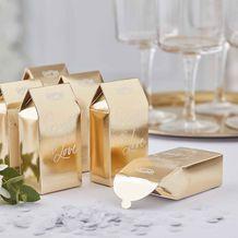 Gold Wedding Biodegradable Confetti Boxes - Party Supplies Emporium