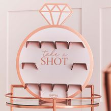 Hen Party Rose Gold Ring Shot Wall - Party Supplies Emporium