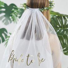 Botanical Hen Party Eucalyptus Bridal Crown With Veil - Party Supplies Emporium