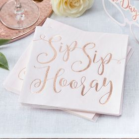 Sip Sip Hooray Lunch Napkins - Party Supplies Emporium