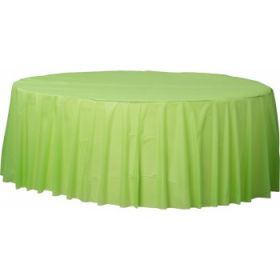 Lime Green Round Plastic Table Cover - Party Supplies Emporium
