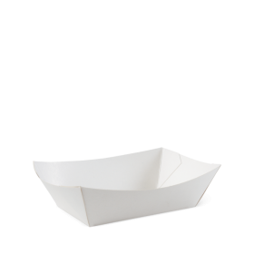 No 3 White Eco Food Trays – Party Supplies Emporium