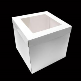 "12"" Tall Cake Box with Window Lid - Party Supplies Emporium"